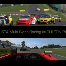 AUTOMOBILISTA Multi Class racing at OULTON PARK Classic