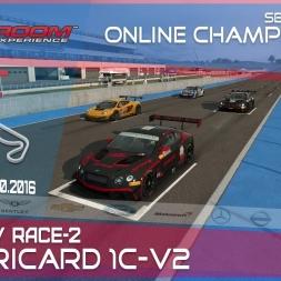 RaceRoom | GTR3/S1: Online Championship`16 (R7/Race-2 Paul Ricard 1C-V2)