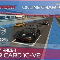 RaceRoom | GTR3/S1: Online Championship`16 (R7/Race-1 Paul Ricard 1C-V2)