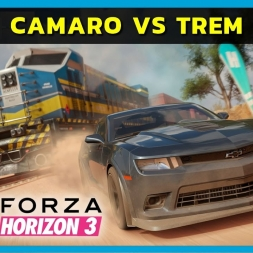 Forza Horizon 3 PC - Pagani Huayra BC and race vs train (PT-BR)