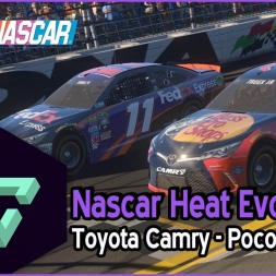 NASCAR HEAT EVOLUTION | TOYOTA CAMRY - POCONO |  -ESPAÑOL HD-