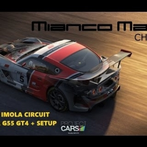 Project CARS - Ginetta G55 GT4 + Setup - Race at Imola
