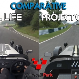 Project CARS Vs Real Life - Caterham @ Cadwell Park