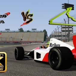 Assetto Corsa 4K * McLaren MP4/6 vs. Autódromo Hermanos Rodríguez 2015