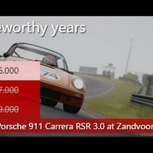 Assetto Corsa Special Event: Noteworthy Years, Silver 1.9 Porsche Pack