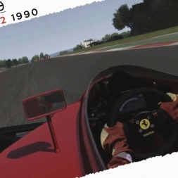 Assetto Corsa Ferrari 641 Nigel Mansell Real Onboard Cam at Vallelunga
