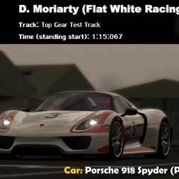 Assetto Corsa - Porsche 918 Spyder - Top Gear Test Track 1:15:067 (Standing Start)