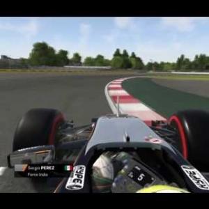 F1 2016 Perez Onboard Mexico