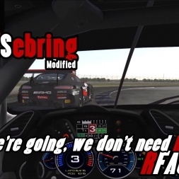 rFactor 2 @ Sebring modified GT3's