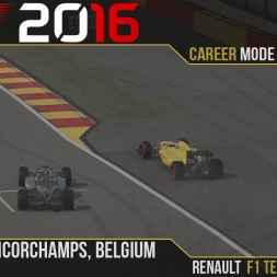 F1 2016 // Career Mode S1, R13 - Belgium [60fps]