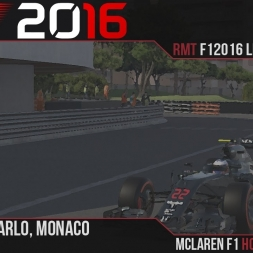 F1 2016 // Ramteam F1 2016 League S1, R6 - Monaco [60fps]