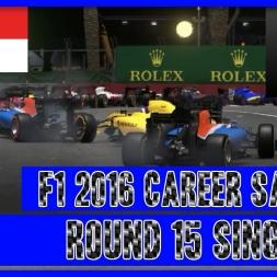 F1 2016 Career Mode Sauber - Round 15 Singapore This AI....