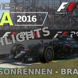 F1 2016 | LIGA 2016 | 1. Saisonrennen | Brasilien
