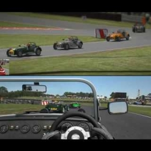 rFactor 2: Caterham 7: Oulton Park driving experience