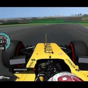 rFactor F1 2016 - Kevin Magnussen Onboard in Brazil