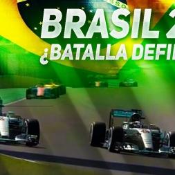 MERCEDES BATTLE | F1 2016 GP Brasil | Hamilton vs Rosberg | SrPetete