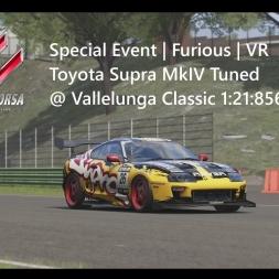 Assetto Corsa | Furious Achievement | Toyota Supra MkIV Tuned @ Vallelunga Classic 1:21:856 min