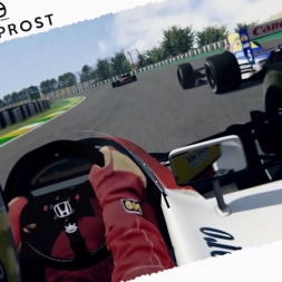 Assetto Corsa F1 1991 Senna Vs Prost EPIC BATTLE at Interlagos Real Onboard Cam