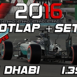 F1 2016 | Setup + Hotlap (Q+R Mode) | Abu Dhabi | 1.39,217 (on Supersofts)[PC]