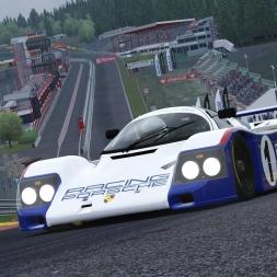 Assetto Corsa Porsche 962c short tail vs. Spa-Francorchamps