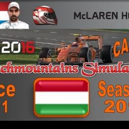 F1 2016 Career Season 3 Hungary
