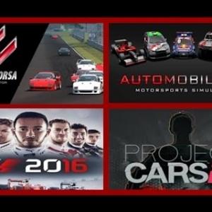 Racing SIM Test (Automobilista-Assetto Corsa-F1 2016-Project CARS)