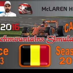 F1 2016 Career Season 3 Belgium