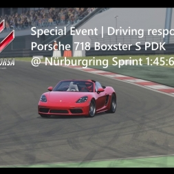 Assetto Corsa | Driving responsibly Achievement | Porsche 718 Boxster @ Nürburgring Sprint 1:45:632