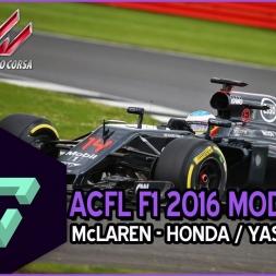 ASSETTO CORSA | ACFL F1 2016 MOD  | McLAREN-HONDA YAS MARINA | ONBOARD - ESPAÑOL HD -