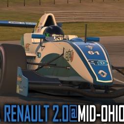 iRacing : Formula Renault 2.0 @ Mid Ohio