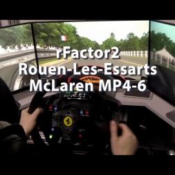 rFactor 2 - Rouen-Les-Essarts - McLaren MP4-6