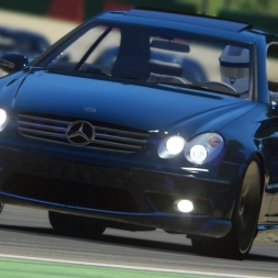 Assetto Corsa Mercedes CLK55 AMG Car mod - 1440p 60Fps Gameplay