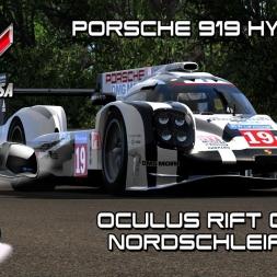 Oculus Rift Cv1 - Porsche 919 @ Nordschleife - Assetto Corsa
