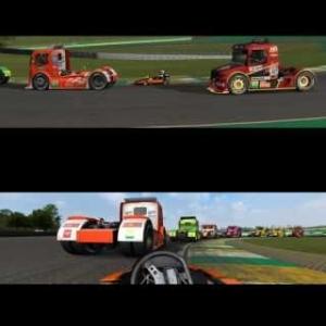 AUTOMOBILISTA Superkart Vs Formula Trucks at INTERLAGOS = FUN