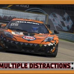 """""""iRacing: Multiple Distractions"""" (McLaren MP4-12C GT3 at Watkins Glen Classic)"""