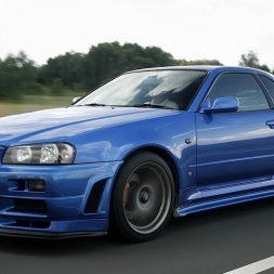Assetto Online: Nissan R34 GTR on the Nordschleife