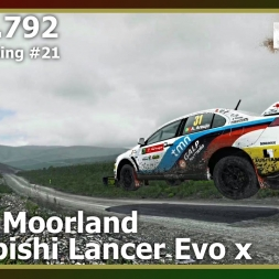 Dirt Rally - World Rank #21 - Mitsubishi Lancer Evo X - Bidno Moorland
