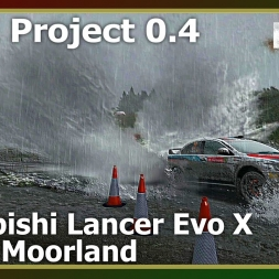 Dirt Rally - RFPE Project 0.4 - Mitsubishi Lancer Evo X - Bidno Moorland