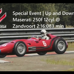Assetto Corsa | Special Event Up and Down | Maserati 250f 12cyl @ Zandvoort 2:16:083 min