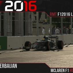 F1 2016 // Ramteam F1 2016 League S1, R1 - Baku [60fps]