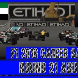 F1 2016 Career Mode Sauber - Round 21 Abu Dhabi Season 1 Finale