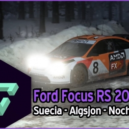 DIRT RALLY | | FORD FOCUS RS 2007 | ALGSJON | NIGHT SNOW GAMEPLAY ESPAÑOL