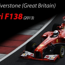 Ferrari F138 +20kg - 1.30.415 @Silverstone (Great Britain) - Assetto Corsa 1.10.2