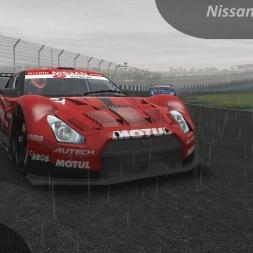rFactor 2 Nissan GT-R GT500 vs. Interlagos (wet)