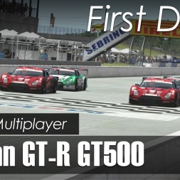 rFactor 2 - Online - Nissan GT-R GT500 - Sebring / First Drive + Race [Build 1108]