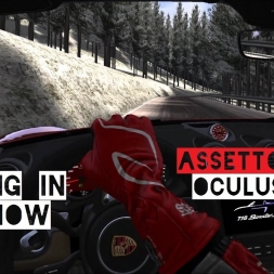VR [Oculus Rift] DRIFTING in the SNOW - Assetto Corsa | Porsche 718 Boxster S Trento Bondone Winter