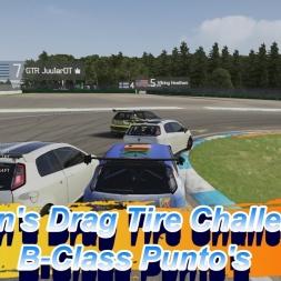 Seven's Drag Tire Challenge: B-Class Punto's