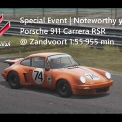Assetto Corsa | Special Event Noteworthy years | Porsche 911 Carrera RSR @ Zandvoort 1:55:955 min