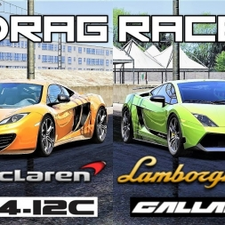 Mclaren MP4-12C VS Lamborghini Gallardo LP570-4 Superleggera - 2000m Drag Race - Assetto Corsa