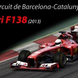 Ferrari F138 - 1.20.249 @Circuit de Barcelona-Catalunya (Spain) - Assetto Corsa 1.8.1